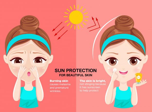 Sử dụng kem chống nắng sau khi thoa kem trị mụn