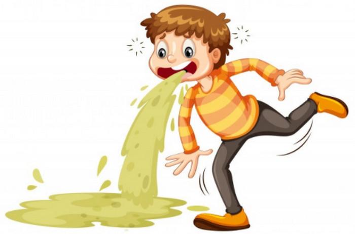 Nôn mữa ra mật xanh mật vàng là hiện tượng của bệnh gan
