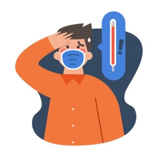 Sốt là triệu chứng của cảm cúm